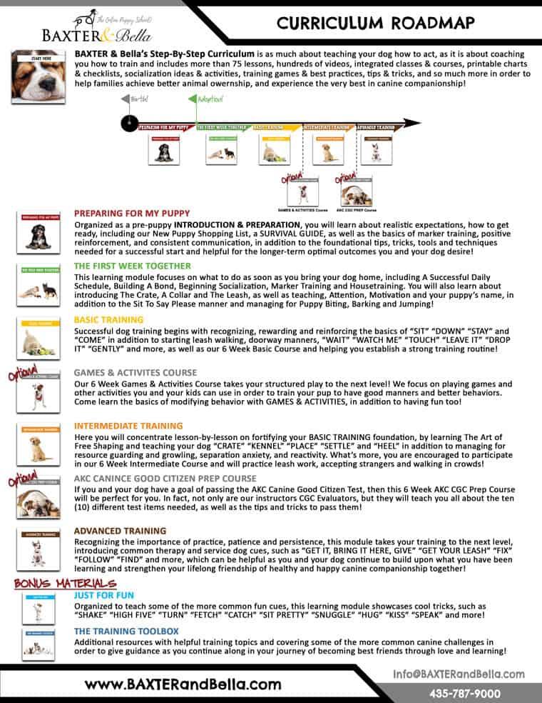 Baxter and Bella Curriculum Roadmap